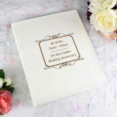 Personalised Gold Photo Album With Sleeves