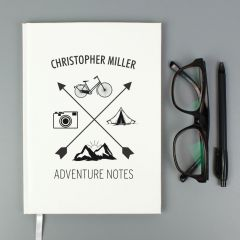 Personalised Adventure Hardback Notebook
