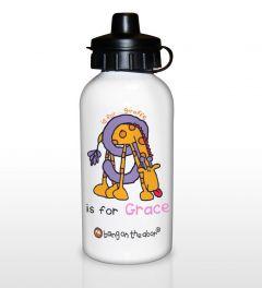 Personalised Bang On The Door Animal Alphabet Letter Girls Drinks Bottle