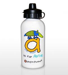 Personalised Bang On The Door Animal Alphabet Letter Boys Drinks Bottles