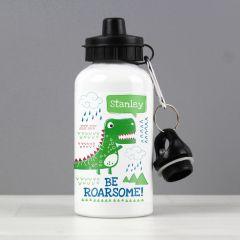 Personalised 'Be Roarsome' Dinosaur Design Drinks Bottle