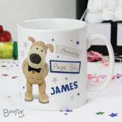 Personalised Boofle Bear Male Wedding Mug
