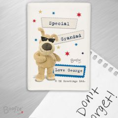 Personalised Boofle Bear Stars Fridge Magnet