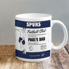 Personalised Vintage Design Football Navy Supporter's Mug