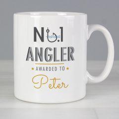 Personalised The No.1 Angler Mug
