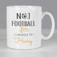 Personalised The No.1 Football Fan Mug