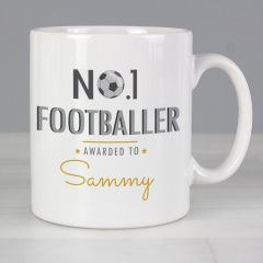 Personalised The No.1 Footballer Mug