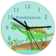 Personalised Dinosaur Design Clock