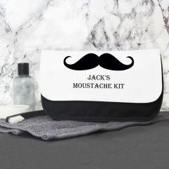 Personalised Moustache Men's Wash Bag