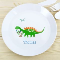Personalised Dinosaur Childrens Plastic Plate