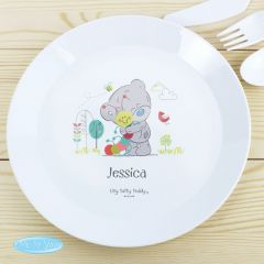 Personalised Tiny Tatty Teddy Cuddle Bug Childrens Plastic Plate