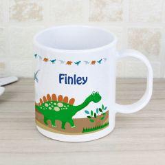 Personalised Dinosaur Design Plastic Mug