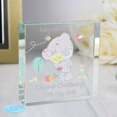 Personalised Tiny Tatty Teddy Bear Cuddle Bug Large Crystal Token
