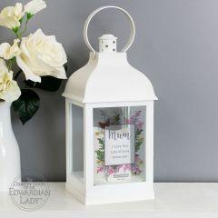 Personalised Country Diary Design Botanical White Lantern
