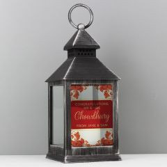 Personalised Rustic Paisley Wedding Black Lantern