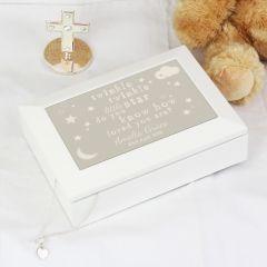 Personalised Twinkle Twinkle Design Jewellery Box