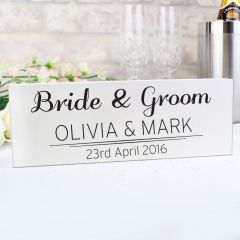 Personalised Classic Design Wooden Block Sign
