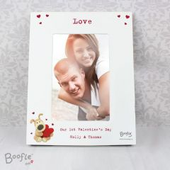Personalised Boofle Shared Heart White Photo Frame 6x4