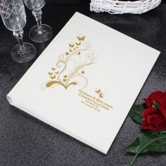 Personalised Gold Butterfly Swirl Traditional Photo Album