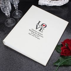 Personalised Love Traditional Photo Album