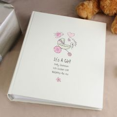 Personalised Cartoon Pram Album with Sleeves