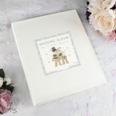 Personalised Boofle Bear Wedding Album with Sleeves