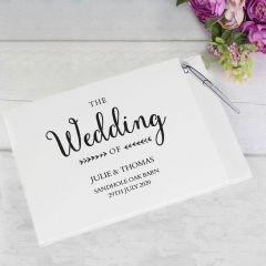 Personalised Rustic Wedding Guest Book & Pen