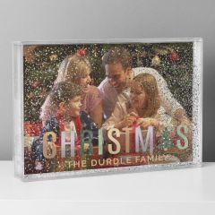 Personalised Christmas Glitter Shaker Photo Frame 6x4