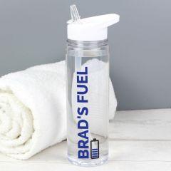 Personalised Blue Fuel Design Water Bottle