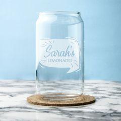 Personalised Lemonade Can Glass