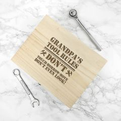 Personalised His Tools His Rules Tool Box
