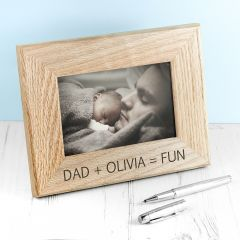 Wordsworth Collection Fun with Dad Engraved Photo Frame