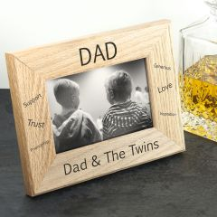 Wordsworth Collection Sentiments Dad Engraved Photo Frame