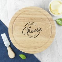 Personalised 'Hands Off' Cheese Board Set