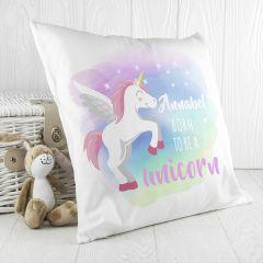 Personalised Baby Unicorn Cushion Cover