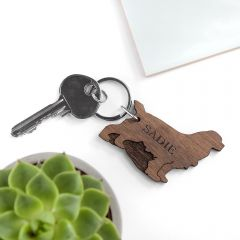 Personalised Dog Breed Wooden Keyring
