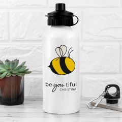 Bee You White Water Bottle