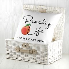 Personalised Peachy Life Cushion Cover