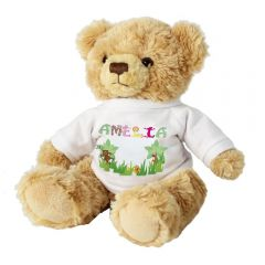 Personalised Girls Animal Alphabet Letter Message Bear