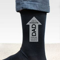 Personalised Awesome Dad Arrow Men's Socks