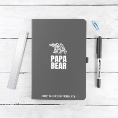 Personalised Bear A5 Notebook