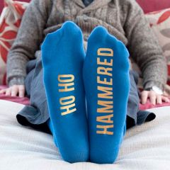 Personalised Blue & Yellow Adult Socks