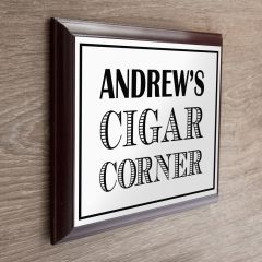 Personalised Art Deco Style Wooden Cigar Plaque