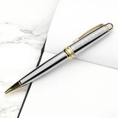 Personalised Cross Silver Gold Medallist Pen