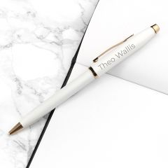 Personalised Cross Century II Pen in White