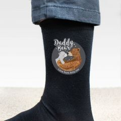 Personalised Daddy Bear Design Men's Socks