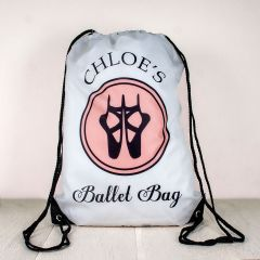 Personalised Kids Drawstring Ballet Sports Bag