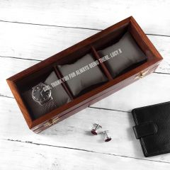 Personalised Father's Wooden Watch Box