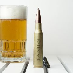 Personalised 50 Calibre Engraved Bullet Shell Bottle Opener