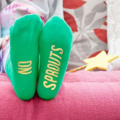 Personalised Green & Yellow Kids Socks